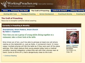 Smartphones, Smart Pastor, Smart Church