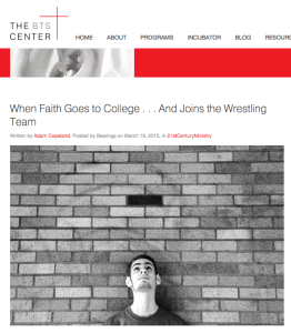 When Faith Goes to College . . . And Joins the Wrestling Team